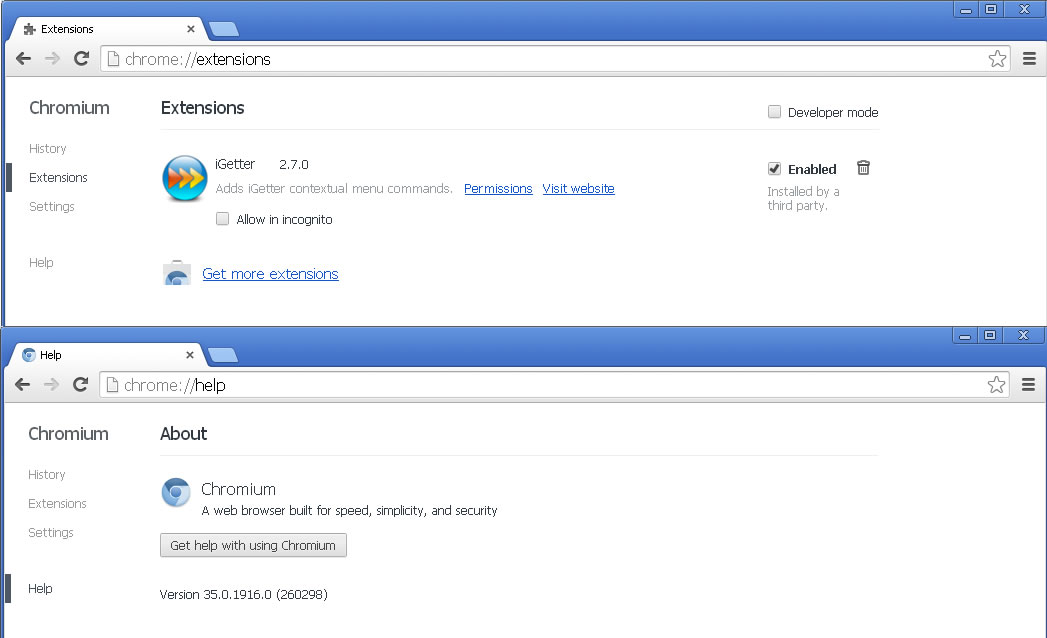 Forums - iGetter (windows) Chrome extension disabled by google